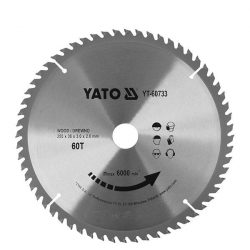 Yato YT-60733 Fűrésztárcsa fához 255x30 mm 60T