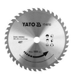 Yato YT-60783 Fűrésztárcsa fához 305x30 mm 40T