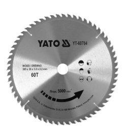 Yato YT-60784 Fűrésztárcsa fához 305x30 mm 60T