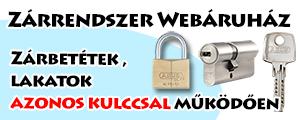 zárrendszer webáruház, azonoskulcs.hu linkje