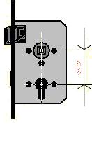 Kilincs-Kulcsközép Távolság Méret